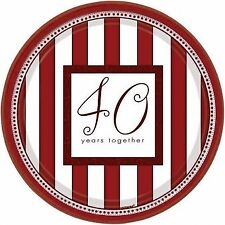 Happy Anniversary 25 40 50 Years Together Plates Napkins Invitations Thank you