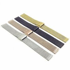 StrapsCo Milanese Stainless Steel Mesh Strap Watch Band Metal Bracelet Clasp