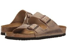 NIB Birkenstock Arizona Soft Foot Bed  Slide Sandal (Unisex) in Tobacco 552813