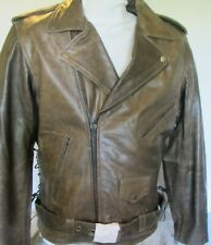 Bigfoot Distressed Brown Buffalo Leather Motorcycle Jacket w/Soft  Armor Sizes