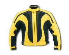 New Black/Yellow MESH w/Waterproof Z/O lining Armored Motorcycle Jacket Size 40