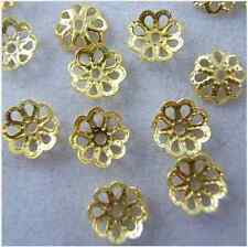New Wholesale 700/ 500pcs Gold Plated Flower Bead Caps DIY Jewelry Findings