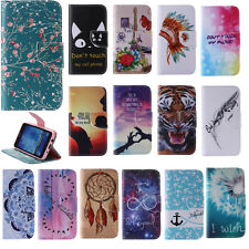 Flip Stand Wallet Cover For iPhone Huawei Sony Samsung PU Folio Phone Case Skin