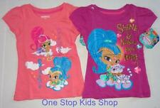 SHIMMER AND SHINE Girls 2T 3T 4T 4 5 6 6X Short Sleeve Tee SHIRT Top
