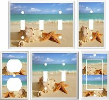 SEASHELLS BEACH LIGHT SWITCH COVER PLATE OR OUTLET V812