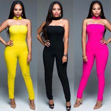 Sexy Women sleeveless Bandage Bodycon Jumpsuit Rompers Clubwear Long Trousers