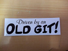 DRIVEN BY OLD GIT funny rude motorcycle bike car toolbox sticker