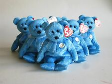 Six TY Beanie Babies Classy Teddy Bear Collectors Party Bags Gifts Bargain.