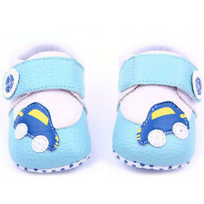 Baby Boy Girls Cute Leather Crib Shoes Soft Sole Flower Car Shoes New