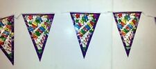Lot of 12 Pieces - Happy Birthday Pennant Banners 12ft + FREE SHIPPING!