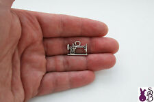 Sewing Machine Charm - Tibetan Style - Colour Antique Silver Packet 10, 25 or 50