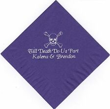 SCULL AND BONES LOGO 50 Personalized printed LUNCHEON DINNER napkins