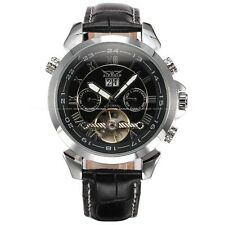 Mens Tourbillion Automatic Mechanical Date Day Leather Strap Sport Army Watch