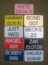 2x ENGRAVED NUMBER PLATES FOR RIDE ON TOYS LITTLE TIKES FRONT & REAR PLATE