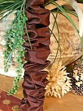 SALE Chandelier Chain Cord Cover~HOOK n LOOP~Brown Silk (3 FT) (6 FT) (9 FT)