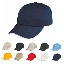Chino Washed Sandwich Cap Caps Hat Hats 100% Cotton 6 Panel Low Crown