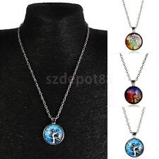 Vintage Mens Womens Tree of Life Charm Pendant Chain Necklace Fashion Jewelry