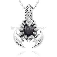 Male's Punk Rock Scorpion King Stainless Steel Pendant Necklace Jewelry Gift
