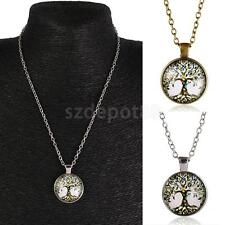 Retro Mens Womens Tree of Life Charm Pendant Chain Necklace Fashion Jewelry
