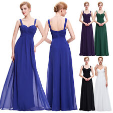 Women's Sexy Chiffon Long Evening Formal Party Bridesmaid Prom Dress Homecoming