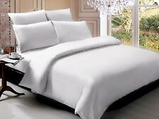 OFFER EGYPTIAN /ORGANIC COTTON 1500TC HIGH QUALITY 3PC DUVET SET SOLID ALL SIZE