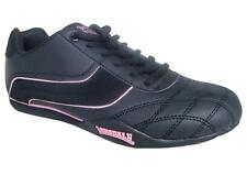 New in Box LONSDALE Hamlin Camden Ladies Trainers Lace Up All Sizes Black Pink