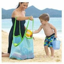 """Large Mesh Tote Bag Clothes Toys Carry All Sand Away Beach Bag 18*12*18"""" Portabl"""