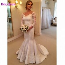 2016 New Alluring Lace Vintage Wedding Dress Long Sleeve Mermaid Wedding Dresses