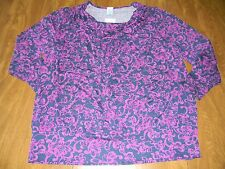 JMS Just My Size Womens Plus Size 3X 4X Purple Shaped Fit Cowl Neck Shirt NWT