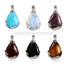 Water Drop Shape Multi-color Stone Necklace Pendant Jewelry Makings Finding