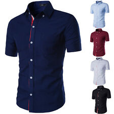 New Mens Casual High Quality Shirt Business Silm fit Short Sleeve Dress Shirts