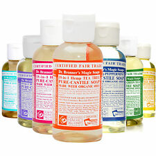 Dr Bronner Castile liquid soap Organic 18-1 2 fl oz 59 ml
