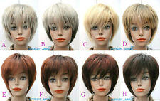 New Fashion(8 colors) Short Straight Wig BOB Head Style Girl Lady Daily Wear Wig