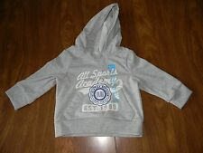 The Childrens Place Boys 6-9 or 9-12 Months Grey Sports Hoodie Sweatshirt NWT