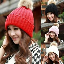 New Fashion Women Winter Warm Knitted Crochet Baggy Beret Beanie Hat Cap Hats