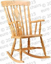 TRADITIONAL WOODEN ROCKING CHAIR | PAINTED BEECH ROCKING CHAIR | MADE IN EUROPE