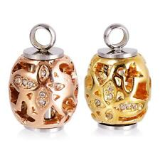 Hollow Flower Beads Stainless Steel Cremation Urn Necklace Ash Memorial Pendant
