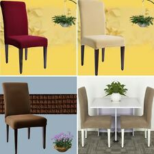 Elastic Fabric Short Dining Room Chair Cover Seat Slipcover Wedding Party Decor