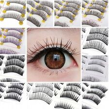 10Pairs Natural Thick Makeup Long Curling False Eyelash Fake Eye Lashes Cosmetic