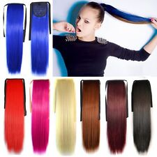 Women's Beauty Long Straight Cosplay Ponytails Clip-in Hair Band Hair Extension