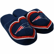 New England Patriots NFL Women's Navy Glitter Slide Slippers/Sandals/Shoes: S-XL