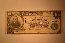 Plymouth, IN - $10 1902 Plain Back Fr. 630 The First NB of Marshall  #2119