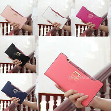 Fashion Korean Bow PU Wallet Clutch Long Notecase Purse ID Card Holder Handbag