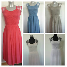 Ladies Lovely Floral  Lace Top Cotton Summer Dress Sleeveless Womens OSFA