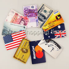 64GB 2.0 USB Dollar Bank Credit Visa Flag Car Card Memory Flash Stick Pen Drive