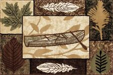 Cabin Canoe Hearth Rug | Fire Resistant Rugs | Lodge Rug | Fireplace Rugs