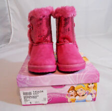 Disney Frozen Faux Suide Sequin Boot Pink or Grey Girls Toddler Size 5 M