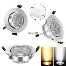 85-265V Warm White Cool White Silver LED Ceiling Recessed Down Light OO55