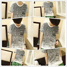 Fashion Men's O-neck Short Sleeve Cotton T-shirt Shirt Short Sleeve Casual HA