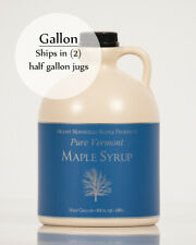1 Gallon Pure Vermont Maple Syrup (ships as 2 half gal)